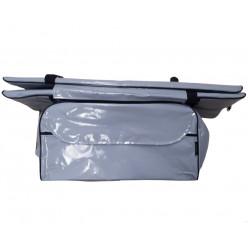 Накладка на сиденье лодки (мягкая сидушка + сидушка с сумкой) 65*20см.