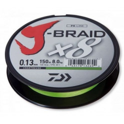 Шнур Daiwa J-Braid X8 Chartreuse 0.10mm 13lb 150m