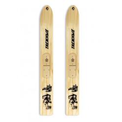 Лыжи деревянные Таежные 170/180 с камусом широкий