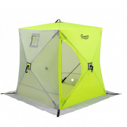 Палатка зимняя Куб утепл. 1,8х1,8 yellow lumi/gray PREMIER