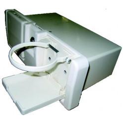 Ящик перчаточный c 2-я держателями пластик С12201W