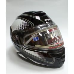 Шлем модулярный LEO STREAM EDL II чер/бел/серебр XL