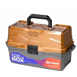 Ящик для снастей Tackle Box трехполочный NISUS золотой