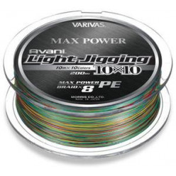 Плетеный шнур Varivas Avani Light Jigging 10*10 Max Power 0.8 200м