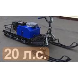Мотобуксировщик ЛИДЕР-3-4Т-20АП с реверсом LONG с модулем
