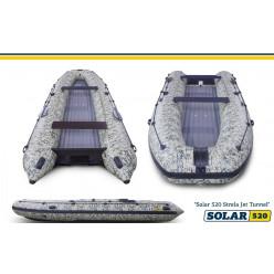 Лодка надувная моторная SOLAR-520 Strela Jet tunnel Пиксель