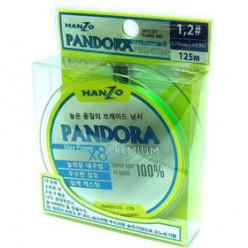 Леска плетеная Hanzo Pandora Premium X8 0,17мм 125м #1.0 Сhartreuse