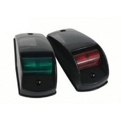 Комплект бортовых навигационных огней в пластиковом корпусе черный (светодиоды) 900035