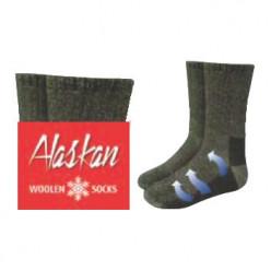 Носки  ALASKAN серые шерсть  XL 44-47