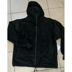 Куртка флисовая на молнии черный р.48