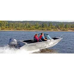 Лодка Волжанка 46 Фиш тр. 510мм с доп.опциями с мотором YAMAHA F60FETL