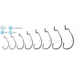Крючки офсетные WindGap Bass 314 BC №1/0(8шт)