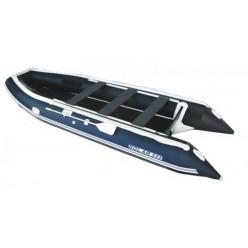 Лодка надувная транцевая Солар Максима-555 К светло-серый