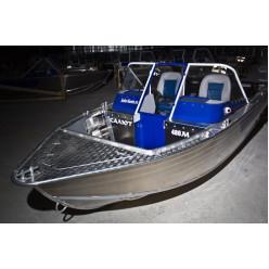 Лодка алюминиевая Салют-480М Classic с транцем 510 с дополнительными опциями