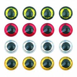 Глазки 3D Silver 4мм 10шт