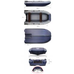 Надувная моторная лодка ФЛАГМАН-DK 380 JET тунель синяя
