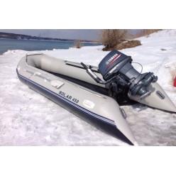 Лодка надувная транцевая Солар-450 МК светло-серый