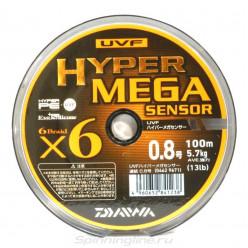 Шнур Daiwa UVF Hyper Mega Sensor 6x#0.8 d-0.148 мм 12,5 lb 100 m 9671*