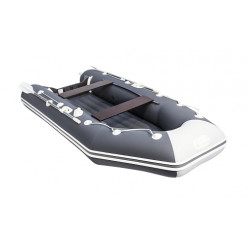 Моторно-гребная лодка ПВХ Аква 3200 НДНД графит / светло-серый