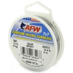 Поводковый материал AFW 7*7 с обжимной гильзой (40шт) 5м 30кг