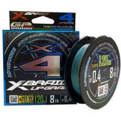 Шнур X-Braid Upgrade x4 3 Color #0.4 0.104мм  120м