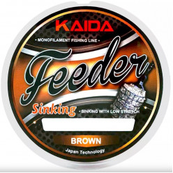 Леска Kaida Feeder Sinking Brown 200м 0,286мм 7,07кг